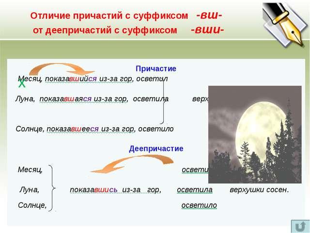 Образование причастий и деепричастий (сводная таблица) Причастия Деепричастия...