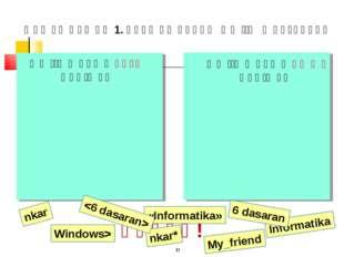 ԿԵՑՑԵ! * Ֆայլի անվան ճիշտ գրելաձև Informatika 6 dasaran «Informatika» nkar* n