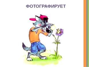 ФОТОГРАФИРУЕТ