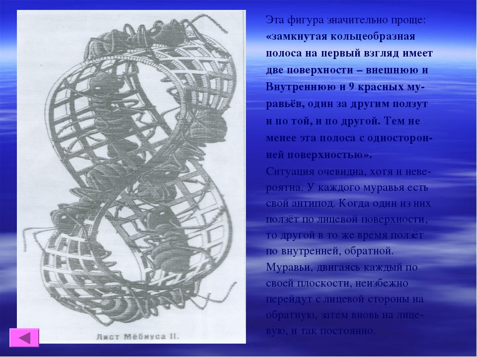 Эта фигура значительно проще: «замкнутая кольцеобразная полоса на первый взгл...