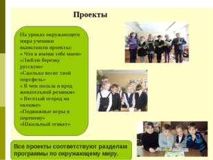 Проекты На уроках окружающего мира ученики выполнили проекты: « Что в имени