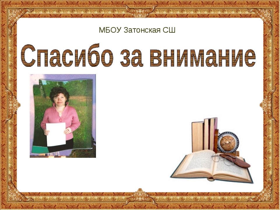 МБОУ Затонская СШ