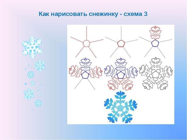 Как нарисовать снежинку - схема 3
