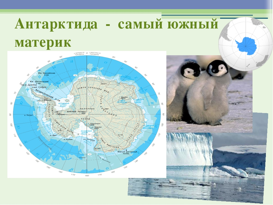 Антарктида - самый южный материк
