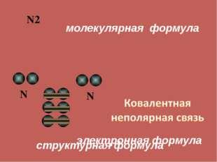 N2 молекулярная формула N N электронная формула структурная формула