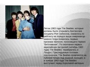 Летом 1963 года The Beatles, которые должны были открывать британские концерт