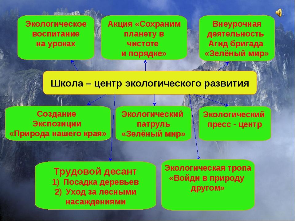 Школа – центр экологического развития Создание Экспозиции «Природа нашего кра...