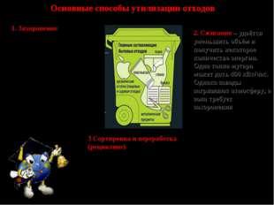 Основные способы утилизации отходов 1. Захоронение – антиэкологичный вариант.