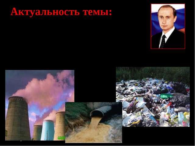 Актуальность темы: Челябинская область, являясь – супериндустриальным регион...