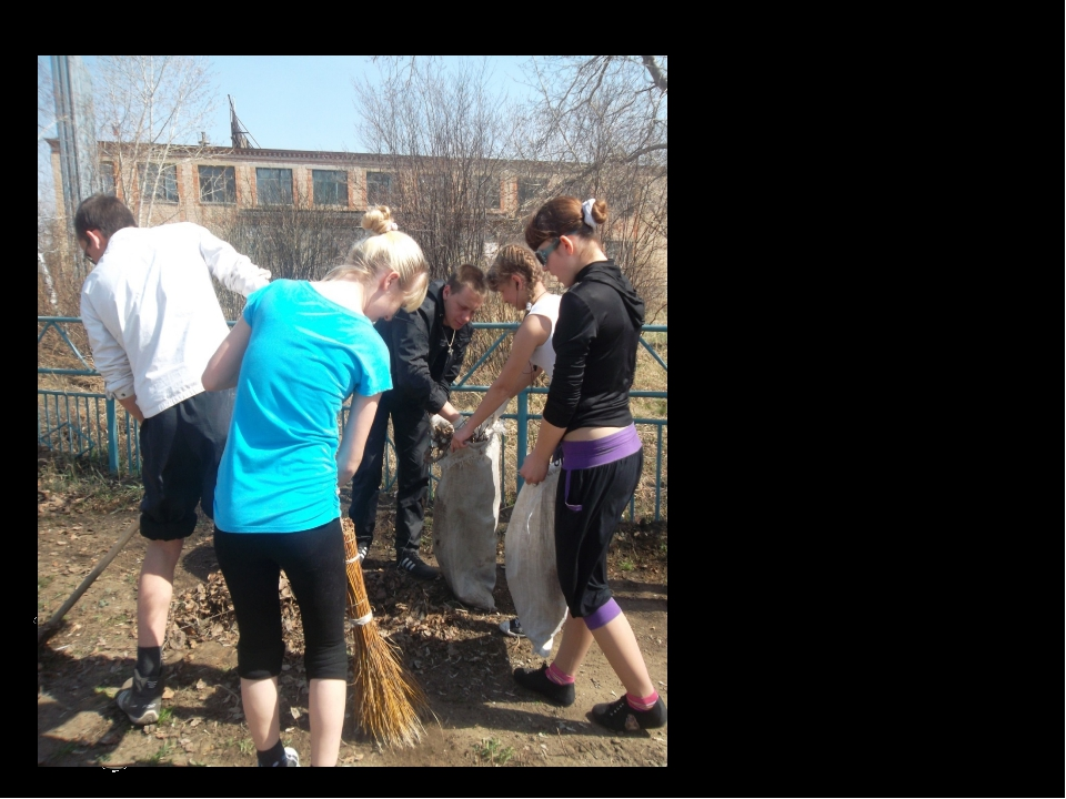 О том, что поддержание чистоты на улице – общее дело жителей, сельской админи...
