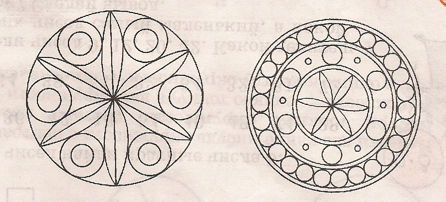 Рисунки круг в узорах
