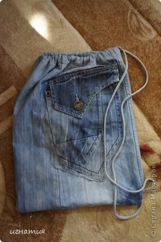 Поделка изделие Начало учебного года Шитьё мешок для сменой обуви и хвастики Ткань фото 2
