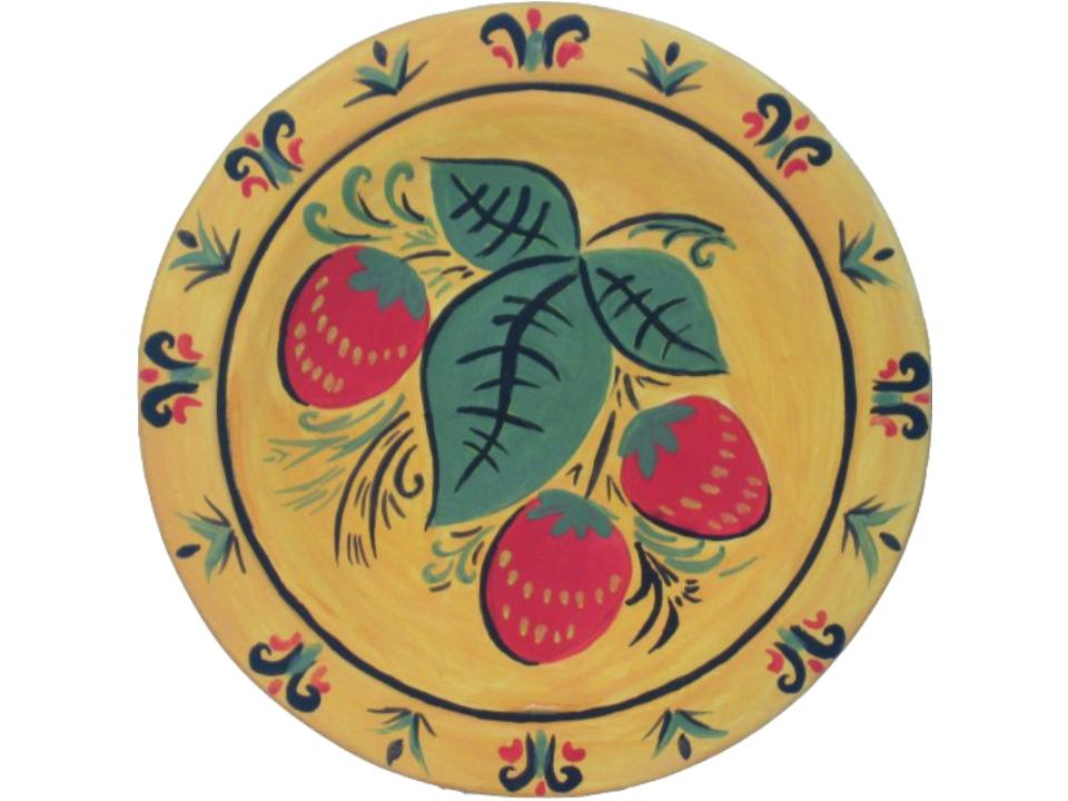 Роспись хохломской тарелки поэтапно