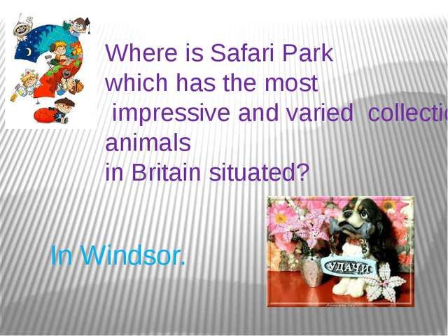 Where is Safari Park which has the most impressive and varied collections of...