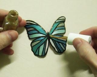 Бабочка из бутылки из Египта 8