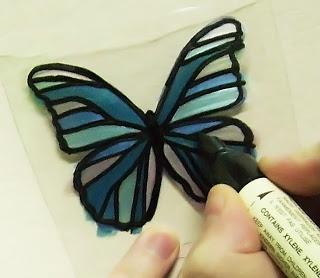 Бабочка из бутылки из Египта 6