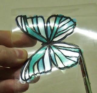 Бабочка из бутылки из Египта 7