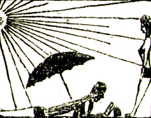 Солнце и зонт