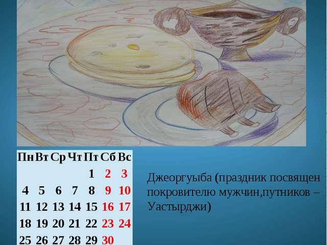 Ноябрь Джеоргуыбайы мæй Джеоргуыба (праздник посвящен покровителю мужчин,путн...