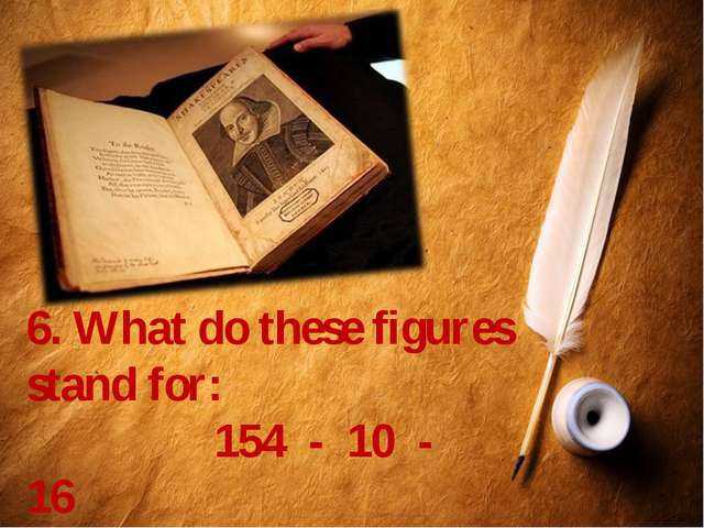 6. What do these figures stand for: 154 - 10 - 16 Что означают эти цифры в тв...