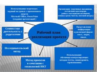 Рабочий план реализации проекта Рабочий план реализации проекта Использовани