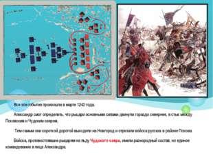 Все эти события произошли в марте 1242 года. Александр смог определить, что р