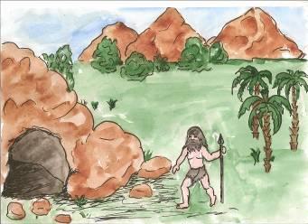 Нарисовать древние люди