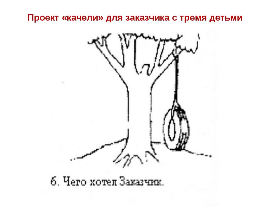 Проект «качели» для заказчика с тремя детьми
