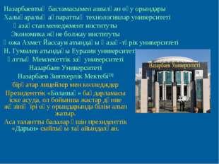 Назарбаевтың бастамасымен ашылған оқу орындары Халықаралық ақпараттық техноло