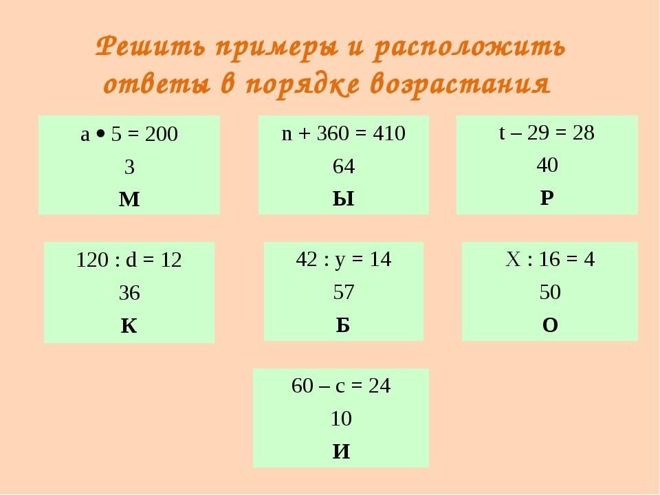 Микробы – возбудители болезней а5 = 200 3 М 60 – с = 24 10 И 120 :d= 12 36 К...