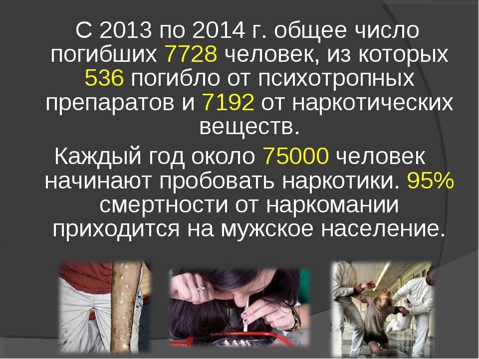С 2013 по 2014 г. общее число погибших 7728 человек, из которых 536 погибло...