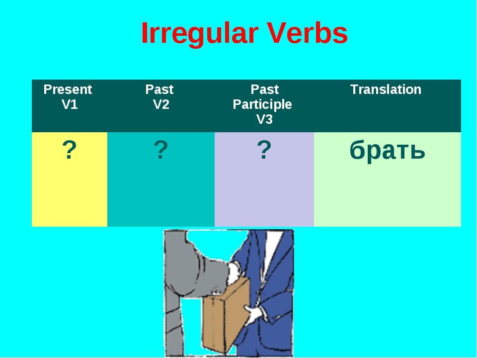 Irregular Verbs Present V1Past V2Past Participle V3Translation ???брать