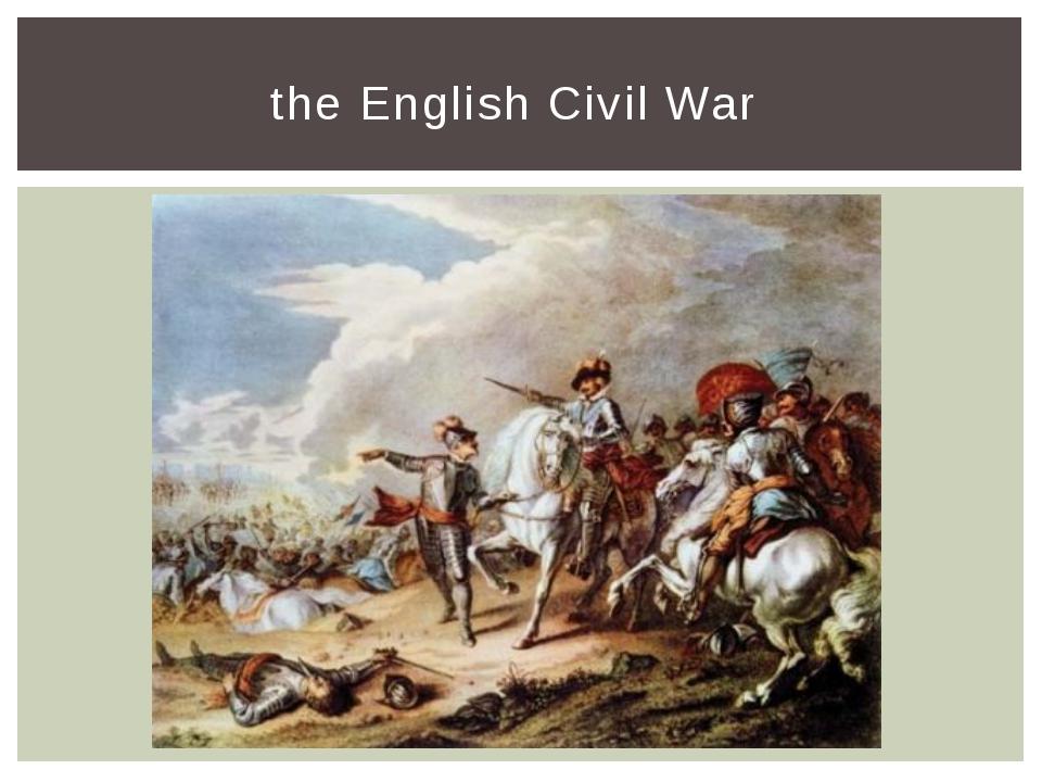 the English Civil War