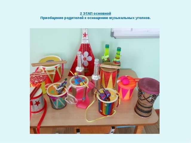 2 ЭТАП основной Приобщение родителей к оснащению музыкальных уголков.