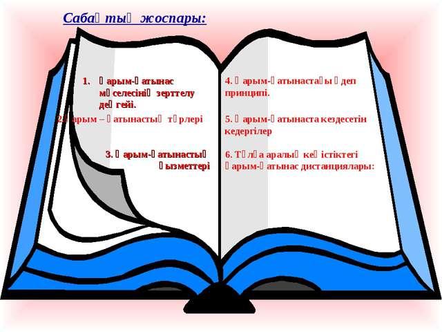 Сабақтың жоспары: Қарым-қатынас мәселесінің зерттелу деңгейі. 2.Қарым – қатын...