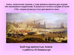 Анапа, захваченная турками, к тому времени приняла два штурма, оба оказавшихс