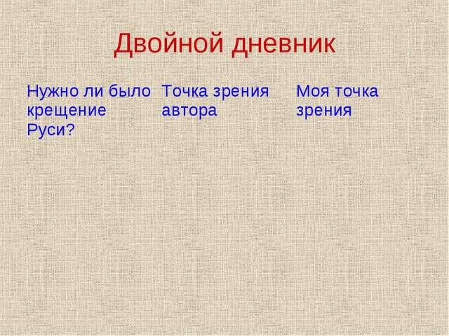 Двойной дневник