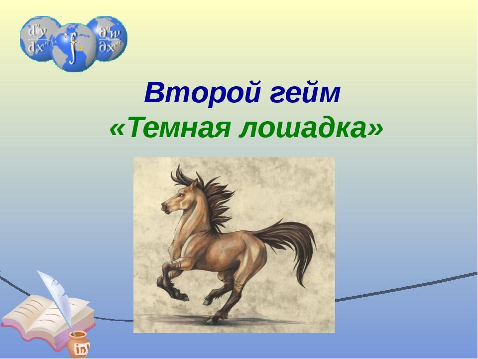 Второй гейм «Темная лошадка»