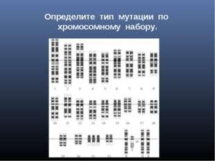 Определите тип мутации по хромосомному набору.