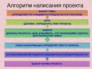 Алгоритм написания проекта