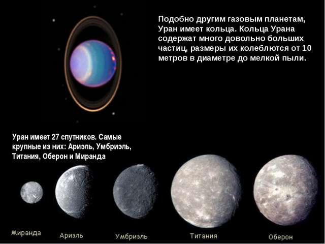 Подобно другим газовым планетам, Уран имеет кольца. Кольца Урана содержат мно...