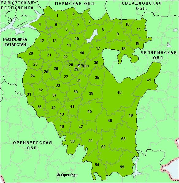 Карта районов башкортостана из тетради по икб урок 16 4 класс