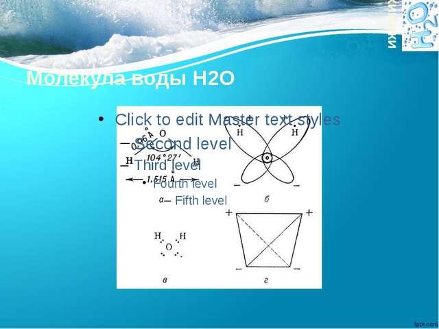 Молекула воды H2O химики