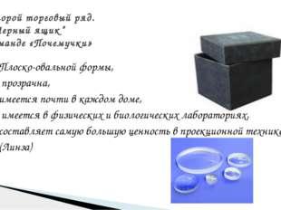 Плоско-овальной формы, прозрачна, имеется почти в каждом доме, имеется в физи