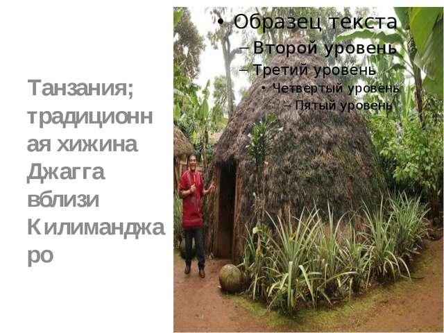 Танзания; традиционная хижина Джагга вблизи Килиманджаро