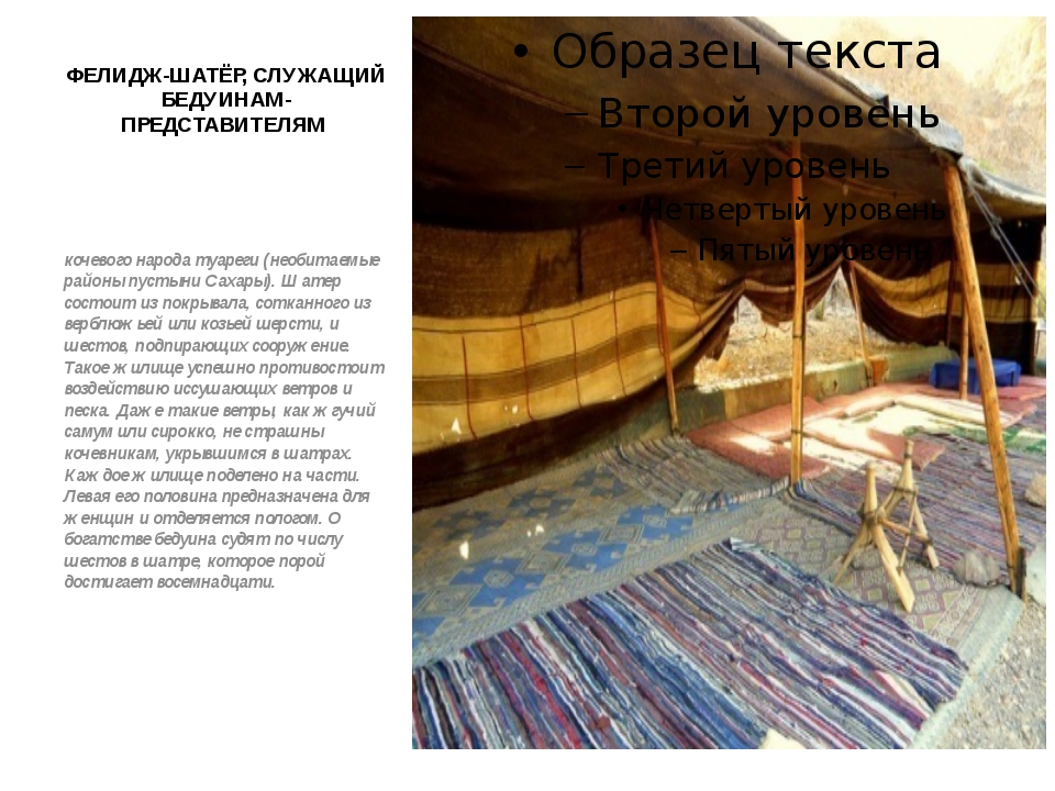 ФЕЛИДЖ-ШАТЁР, СЛУЖАЩИЙ БЕДУИНАМ-ПРЕДСТАВИТЕЛЯМ  кочевого народа туареги (нео...