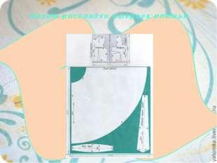 Макет раскладки выкроек платья