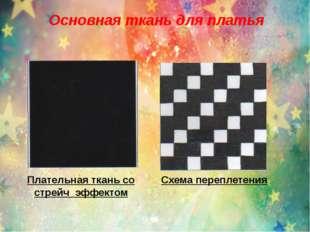 Основная ткань для платья Плательная ткань со стрейч эффектом Схема переплете