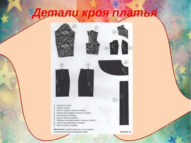 Детали кроя платья