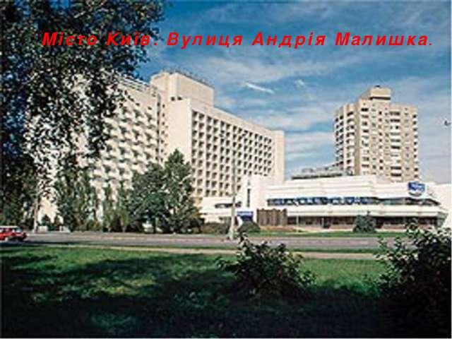 Місто Київ. Вулиця Андрія Малишка.